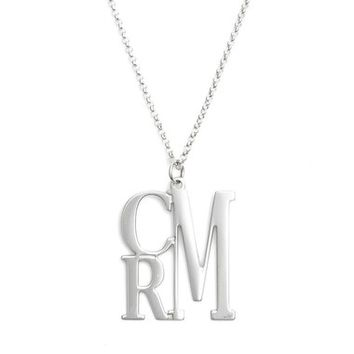 Argento Vivo Personalized Three Initial Necklace | Nordstrom