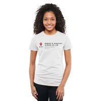 Indiana Hoosiers McKinney School of Law Ladies Slim Fit T-Shirt - White