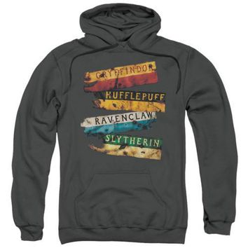 Harry Potter Burnt Banners Licensed Adult Hoodie