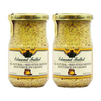 Free Shipping   2-Pack Fallot Large Jar Old Fashioned Seeded Dijon Mustard 13.4 oz. (380g)