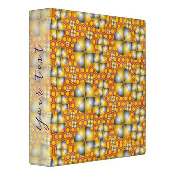 Circles Pattern on a Honeycomb Background 3 Ring Binder