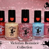 PREODER FULL SIZE Victorian Romance Collection - Custom Handcrafted Valentine's Day Nail Polish from Spellbound Nails