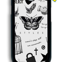 One Direction Harry Styles Tattoos for Samsung Galaxy S3 Cover Rubber Case