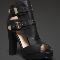 Cutout Buckle Booties