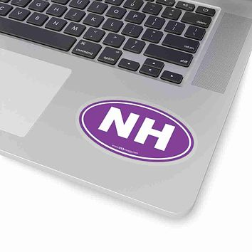 New Hampshire State Shape Sticker SOLID PURPLE