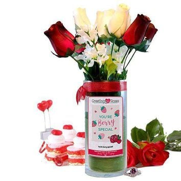You're Berry Special! Greeting Roses