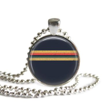 Doctor Who The 13th Doctor Shirt Stripes Silver Plated Pendant Necklace Handmade
