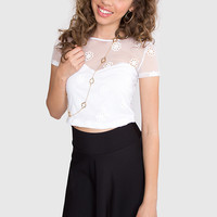 Lucielle Crop Top - White