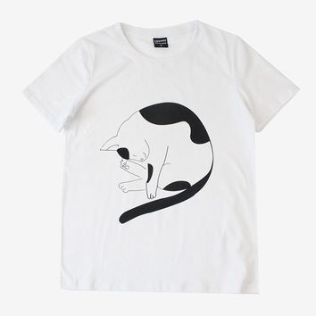 Kitty Fur Ball Tee | White