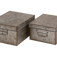 Assorted Metal Storage Boxes, Set of 2, Storage Boxes & Bins