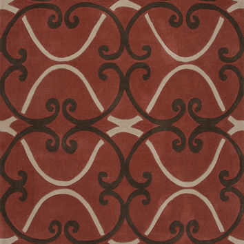 Jaipur Rugs Modern Geometric Pattern Red Polyester Area Rug HER01 (Rectangle)