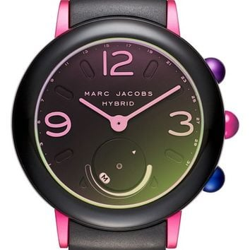 Marc Jacobs Riley Hybrid Rubber Strap Watch, 42mm | Nordstrom