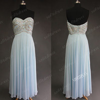 light blue prom dress, evening dress prom, long bridesmaid dress prom, chiffon bridesmaid dress prom, affordable prom dress, BE0641
