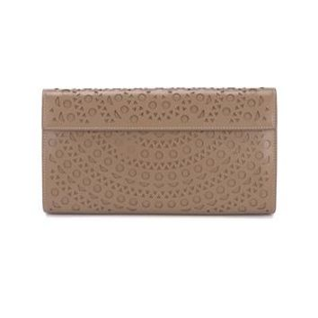 AZZEDINE ALAÏA | Vienne Laser-Cut Leather Clutch | Womenswear | Browns Fashion