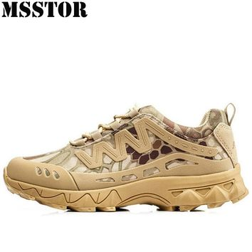 MSSTOR Men Hiking Shoes Man Brand Outdoor Athletic Hunting Trekking Sport Shoes Tactical Boots Camping Climbing Mens Sneakers