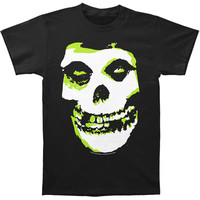 Misfits Men's  Green Fiend Slim Fit T-shirt Black Rockabilia