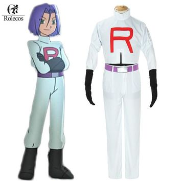 Go Cosplay Anime Pocket Monster  Team Rocket James Cosplay Costumes  Cosplay SuitKawaii Pokemon go  AT_89_9