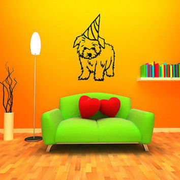 Maltese Dog Puppy Breed Pet Animal Family Wall Sticker Decal Mural 2815