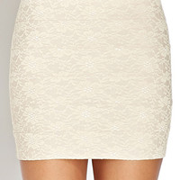 Paneled Lace Mini Skirt