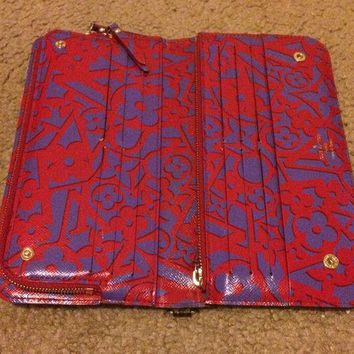 DCCKIN9 authentic louis vuittons wallet monogram insolite Red inside. Limited edition.