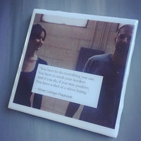 Silver Linings Playbook Movie Ceramic Drink Tile Coaster; House Decor; House Warming Gift; Movie Quotes; Novelty; Love Quotes;Bradley Cooper