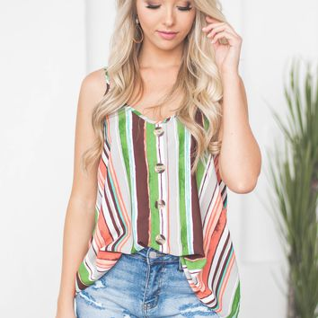 Alexis Button Decor Tank
