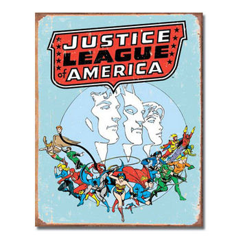 Justice League Of America Retro Vintage Tin Sign