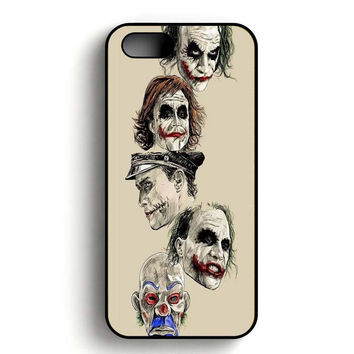 Faces of Heath ledger Joker iPhone 5, iPhone 5s and iPhone 5S Gold case