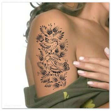 Temporary Tattoo Birds Ultra Thin Realistic Fake Tattoos