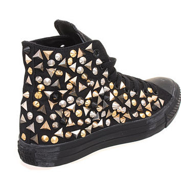 Studded Converse,Converse Hi Top with Mix Studs by CUSTOMDUO on ETSY