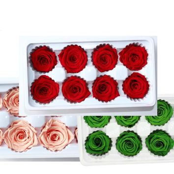 4-5CM Head,Dry Natural Fresh Preserved Rose,beauty And The Beast Rose,Valentine's Day Forever Roses Heads,Gift For Girlfriend