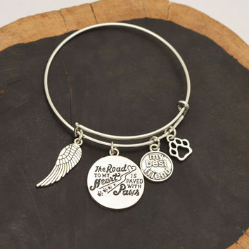 "2016 DIY Family Bracelet Jewelry ""The load to my heart paws"" Pet Memorial Necklace Lover Dog My Best Friend Fashion Jewelry"