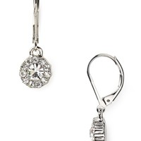 Lauren Ralph Lauren Social Manor Small Round Pavé Drop Earrings | Bloomingdale's