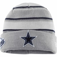 Dallas Cowboys New Era Winter Tradition Cuffed Hat – Gray