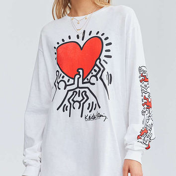 Junk Food Keith Haring Long Sleeve Tee | Urban Outfitters
