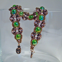 Green Copper Beaded Bracelet - Islands Of Time