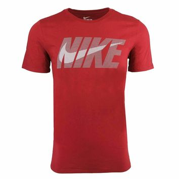 Nike Male Cotton Graphic T-Shirt, Red (Size S-3XL)
