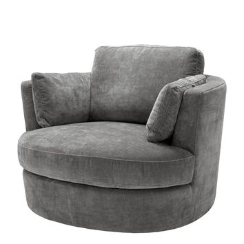 Gray Swivel Chair | Eichholtz Clarissa
