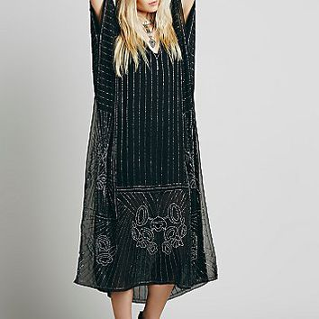 Free People Womens Midnight Rose Kaftan