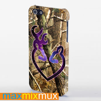 Browning Deer Purple iPhone 4/4S, 5/5S, 5C Series Full Wrap Case
