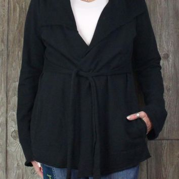 Cute Lucky Brand XL size Casual Jacket Black Cotton Womens Stretch Pockets
