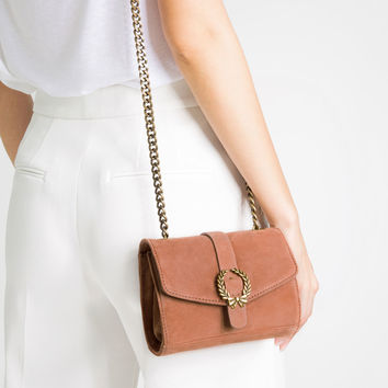 LEATHER CROSSBODY BAG WITH BUCKLE - View all-BAGS-WOMAN | ZARA United States