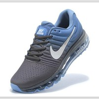 NIKE Trending Fashion Casual Sports Shoes AirMax section Blue grey white-hook