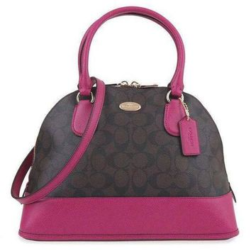 COACH Women Shopping Leather Tote Handbag Shoulder Bag-18
