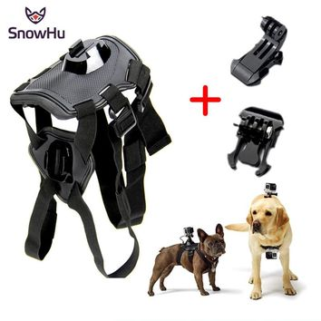 SnowHu for GoPro Accessories Adjustable Dog Fetch Harness Chest Strap Belt Mount For GoPro Hero 5 4 3+ xiaomi yi Sport GP197
