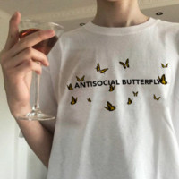 """Antisocial Butterfly"" Tee"