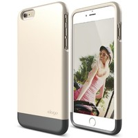 iPhone 6 Plus Case, elago S6+ Glide Case for the iPhone 6 Plus (5.5inch) + Back Protection Film included - eco friendly Retail Packaging (Italian Rose / Champagne Gold)