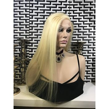 Stephanie HUMAN HAIR lace front wig 22""