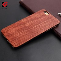 U&I Hot New Natural Dirt-resistant Back Wood Phone cases Hand Manual Carving Shell For Iphone 5 5s 6 6s 6plus 6splus 7 7plus