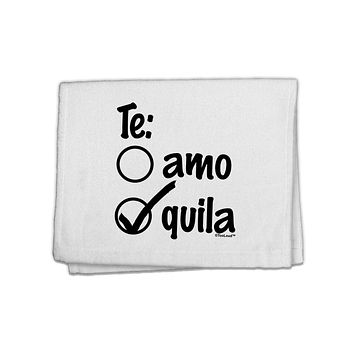 """Tequila Checkmark Design 11""""x18"""" Dish Fingertip Towel by TooLoud"""